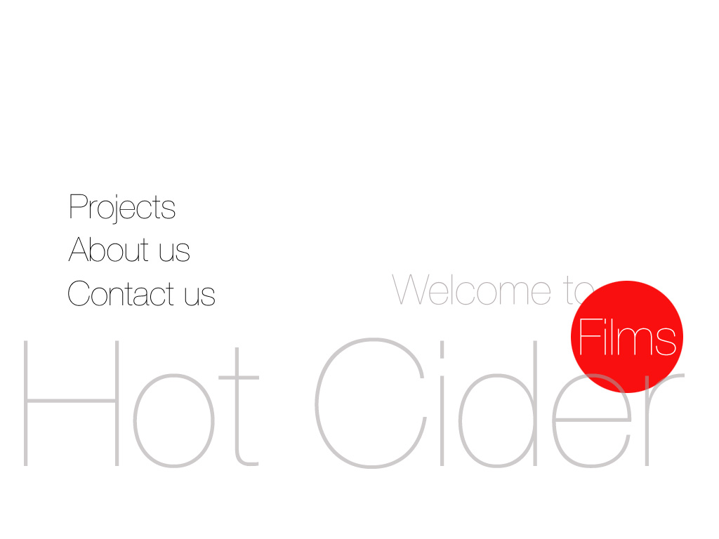 Welcome to Hot Cider films